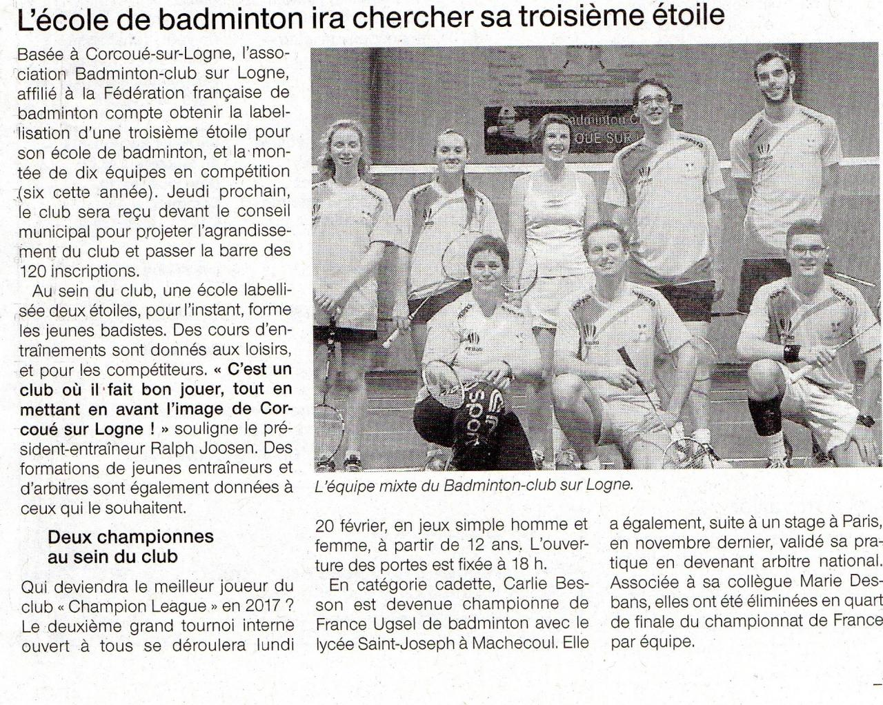 article Ouest France 20-01-17