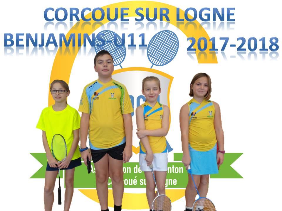 L'équipe Benjamins (U11) 2017-2018