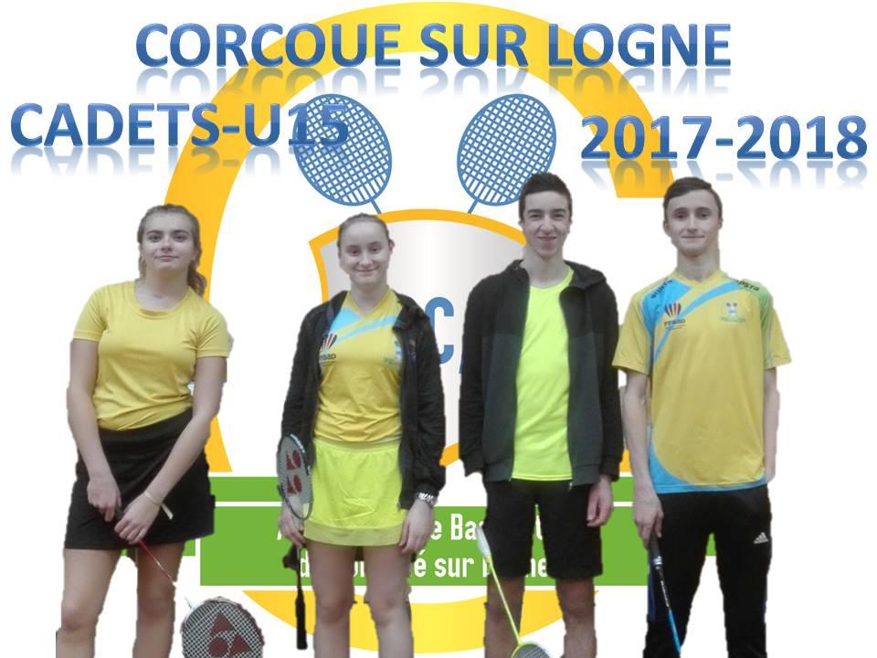 L'équipe Cadets (U15) 2017-2018