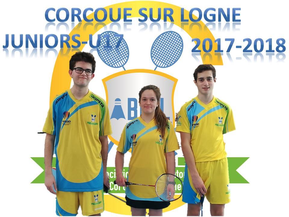 L'équipe Juniors (U17) 2017-2018