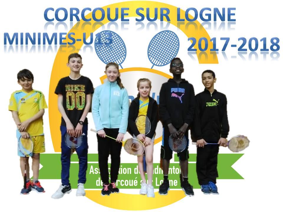 L'équipe minimes U13 2017-2018