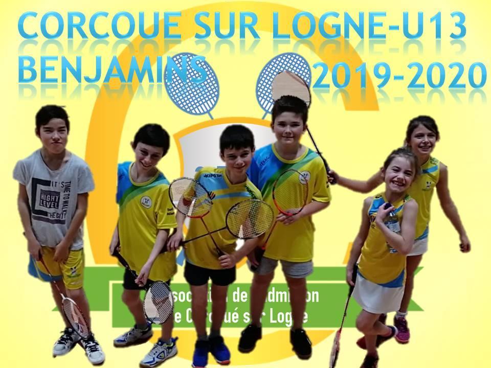 L'équipe Benjamins (U13) 2019-2020