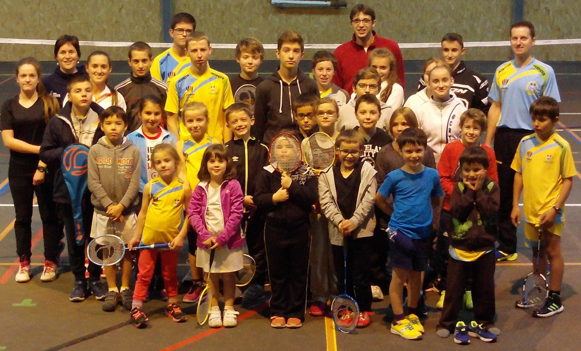 Ecole de badminton 2016-2017
