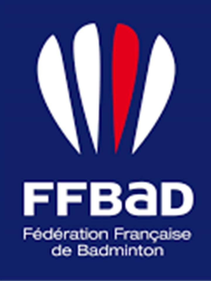Logo ffbad bleue