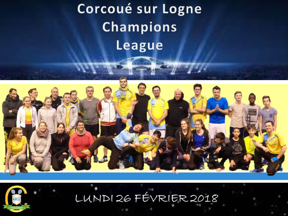 Photo groupe abcl champions league 2018